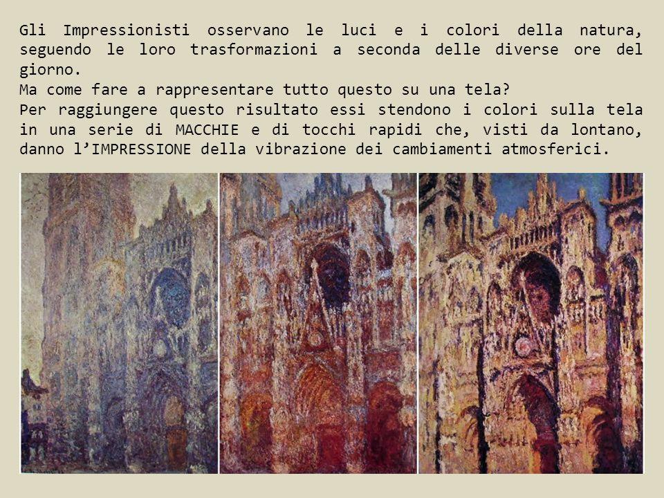Gli Impressionisti osservano le luci e i colori della natura, seguendo le loro trasformazioni a seconda delle diverse ore del giorno. Ma come fare a r