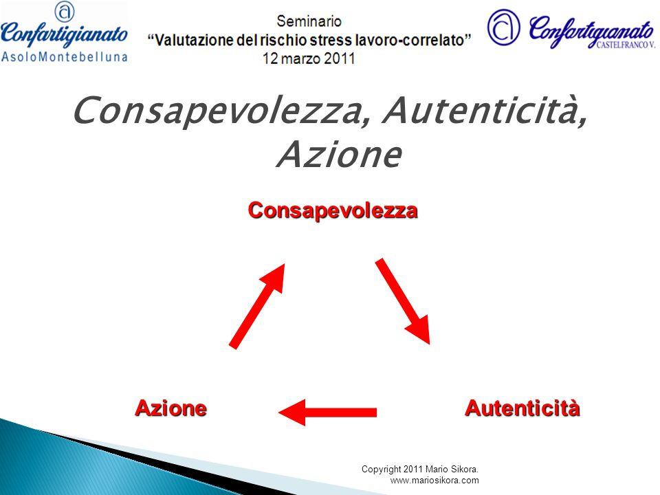 Consapevolezza, Autenticità, AzioneConsapevolezzaAutenticitàAzione Copyright 2011 Mario Sikora. www.mariosikora.com