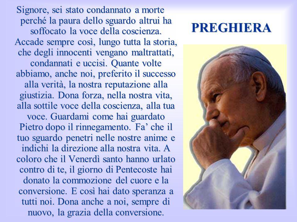 Preghiera Signore, alle donne che piangono hai parlato di penitenza, del giorno del Giudizio, quando ci troveremo al cospetto del tuo volto, il volto del Giudice del mondo.