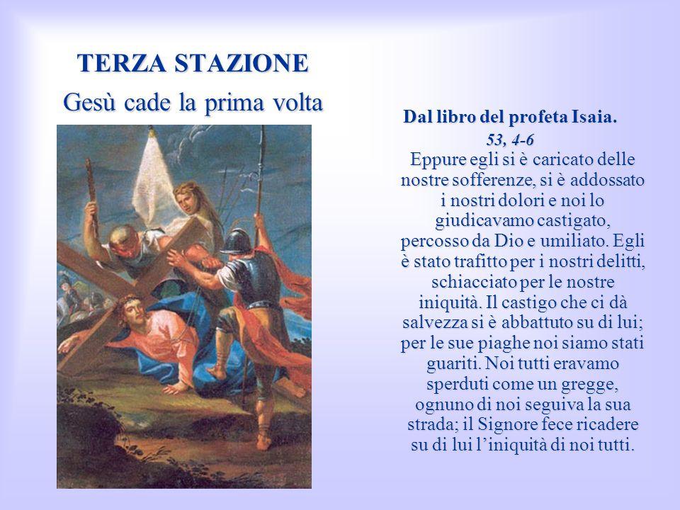 TREDICESIMA STAZIONE Gesù è deposto dalla Croce e consegnato alla Madre Dal Vangelo secondo Matteo.