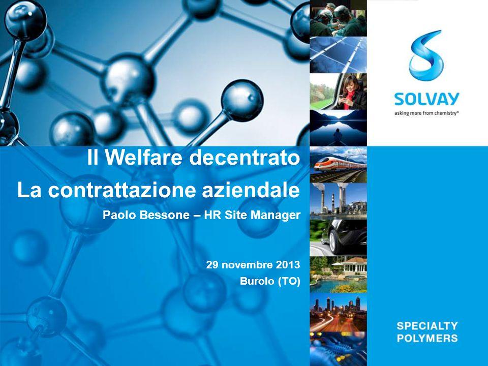 Il Welfare decentrato La contrattazione aziendale Paolo Bessone – HR Site Manager 29 novembre 2013 Burolo (TO)