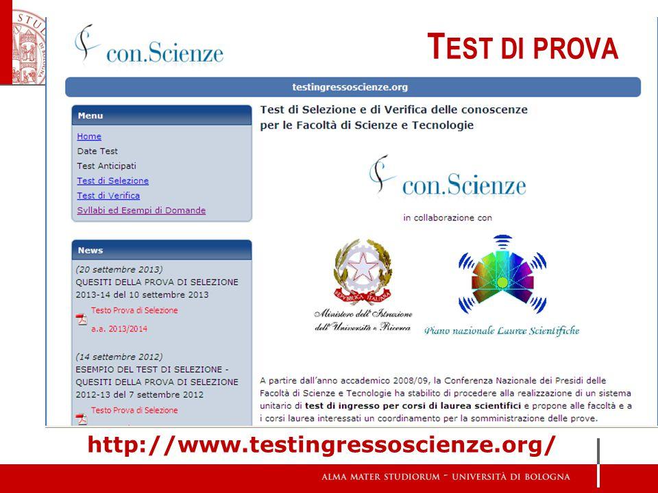 T EST DI PROVA http://www.testingressoscienze.org/