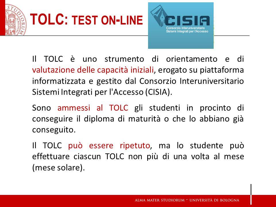 Il TOLC è uno strumento di orientamento e di valutazione delle capacità iniziali, erogato su piattaforma informatizzata e gestito dal Consorzio Interu
