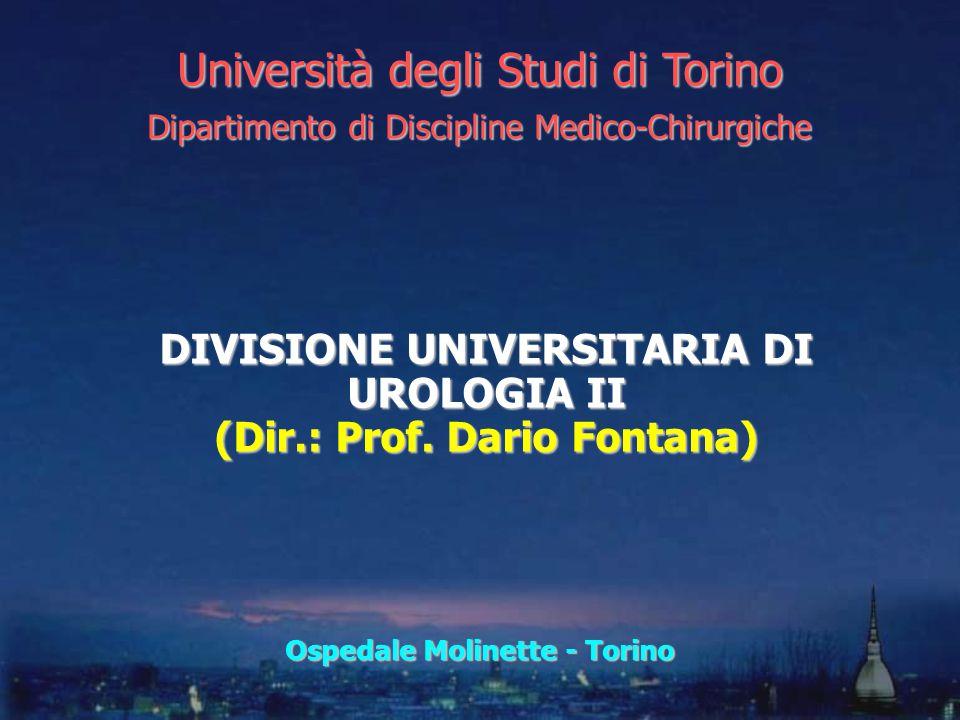 DIVISIONE UNIVERSITARIA DI UROLOGIA II (Dir.: Prof. Dario Fontana) Università degli Studi di Torino Dipartimento di Discipline Medico-Chirurgiche Ospe
