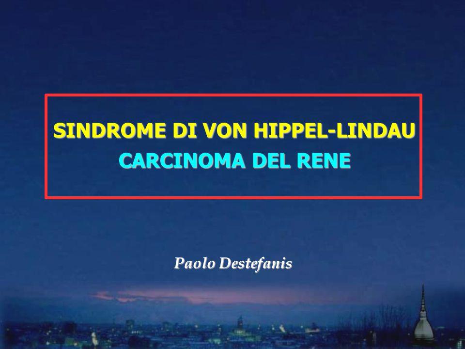 SINDROME DI VON HIPPEL-LINDAU CARCINOMA DEL RENE Paolo Destefanis