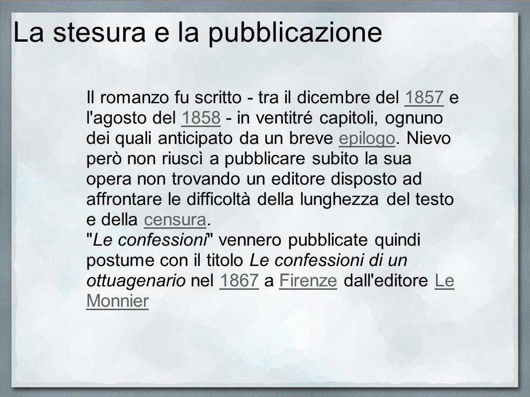 La stesura e la pubblicazione Il romanzo fu scritto - tra il dicembre del 1857 e l'agosto del 1858 - in ventitré capitoli, ognuno dei quali anticipato