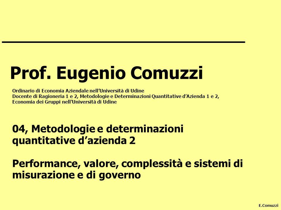 E.Comuzzi Prof.