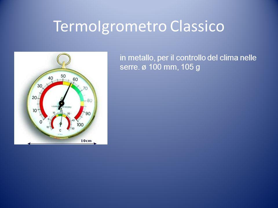 TermoIgrometro Classico in metallo, per il controllo del clima nelle serre. ø 100 mm, 105 g