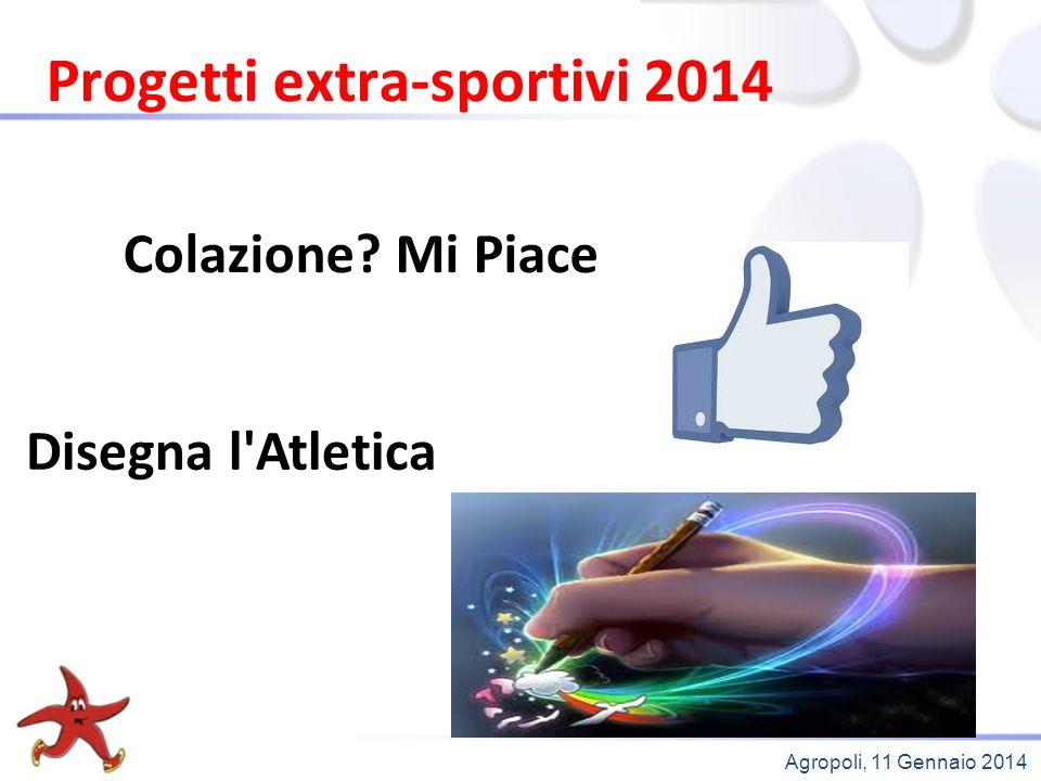 Agropoli, 11 Gennaio 2014 Progetti extra-sportivi 2014 Colazione? Mi Piace Disegna l'Atletica