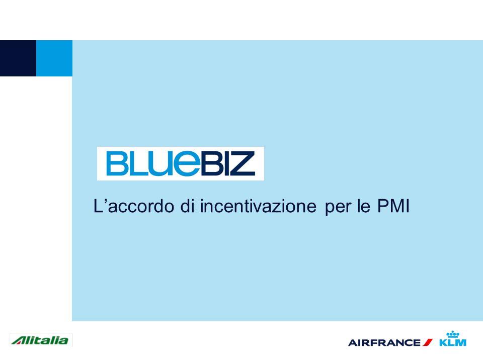 2 Cosè BlueBiz BlueBiz è il nuovo accordo di incentivazione che Alitalia, Air France, KLM e Delta Air Lines dedicano alle PMI, che permette loro di ottimizzare il budget dedicato ai viaggi.