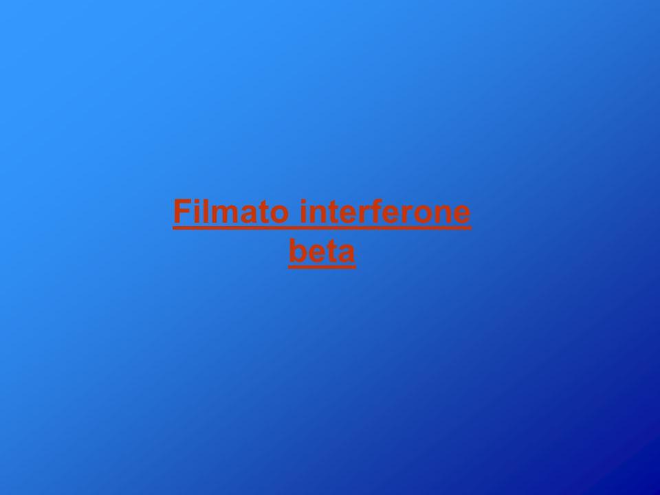 L'interferone beta… Guaina mielinica Citochina infiammatoria Citochina anti-infiammatoria Cellule immunitarie Interferone beta