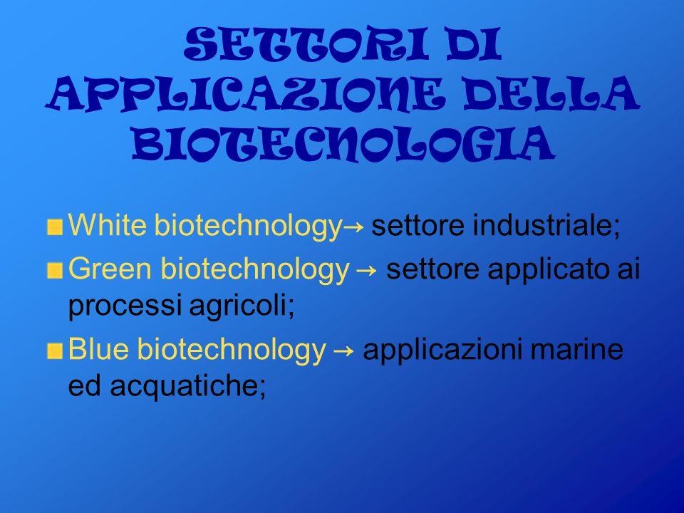 Utilizzo delle biotecnologie per….