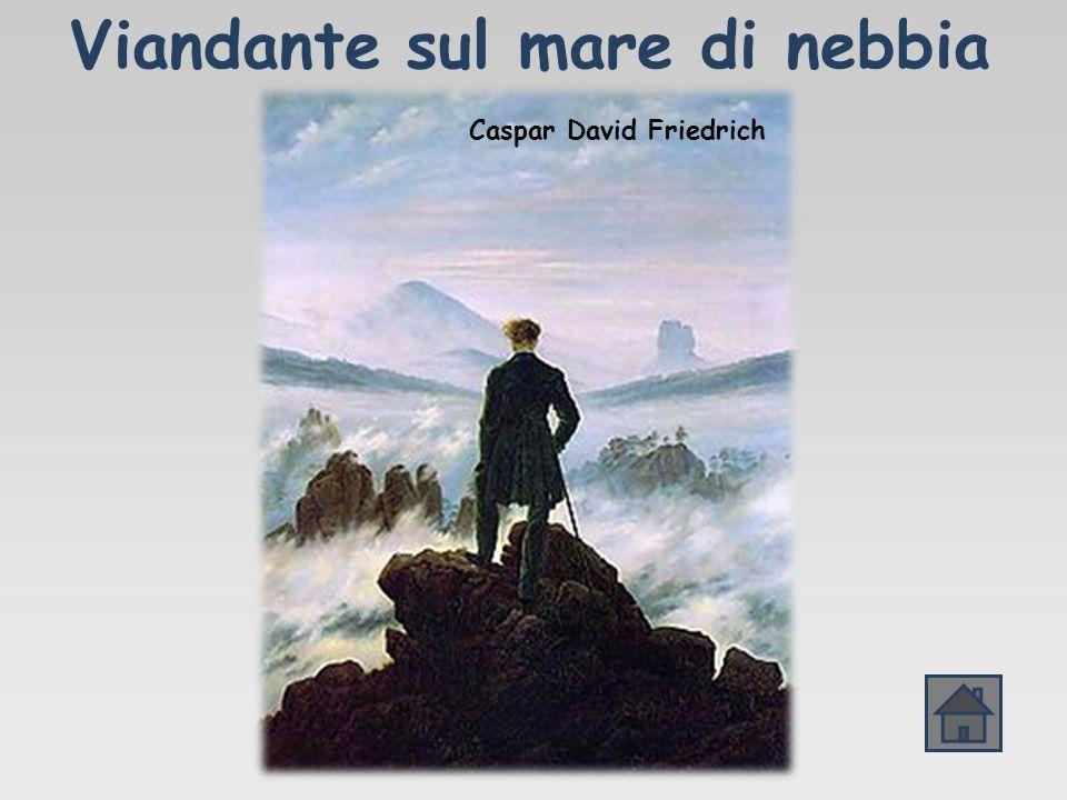 Viandante sul mare di nebbia Caspar David Friedrich