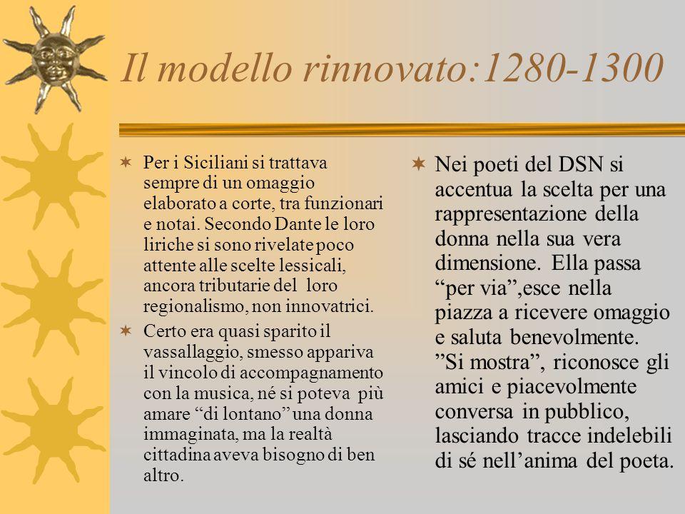 Il modello rinnovato:1280-1300 PPer i Siciliani si trattava sempre di un omaggio elaborato a corte, tra funzionari e notai.