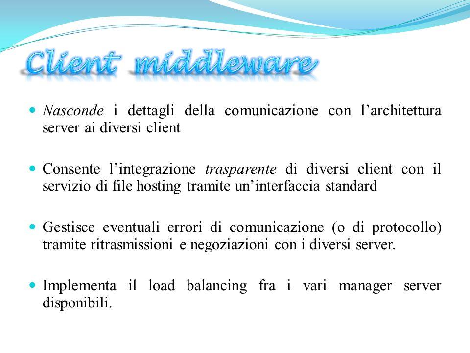  Ogni cliente sceglie un proprio manager.