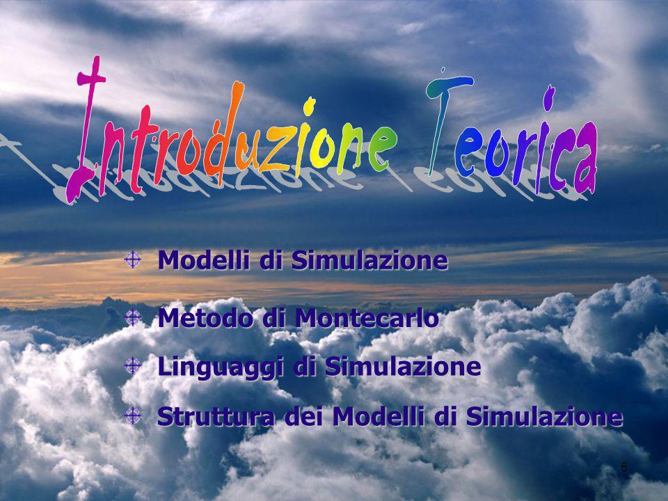 5 Modelli di Simulazione Modelli di Simulazione Metodo di Montecarlo Metodo di Montecarlo Struttura dei Modelli di Simulazione Struttura dei Modelli di Simulazione Linguaggi di Simulazione Linguaggi di Simulazione