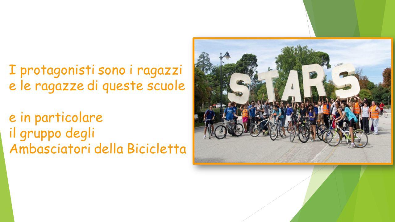 I protagonisti sono i ragazzi e le ragazze di queste scuole e in particolare il gruppo degli Ambasciatori della Bicicletta