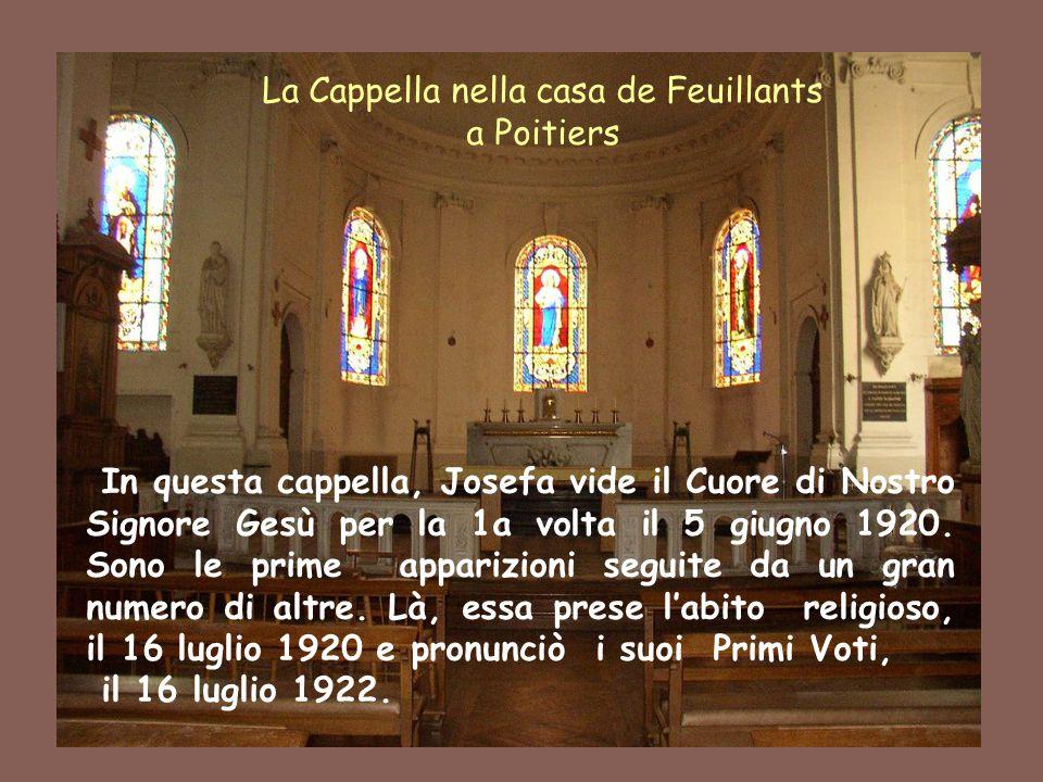 2 In questa cappella, Josefa vide il Cuore di Nostro Signore Gesù per la 1a volta il 5 giugno 1920. Sono le prime apparizioni seguite da un gran numer