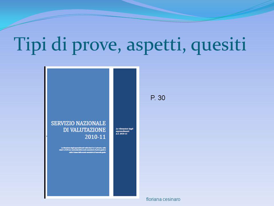 Tipi di prove, aspetti, quesiti P. 30 floriana cesinaro