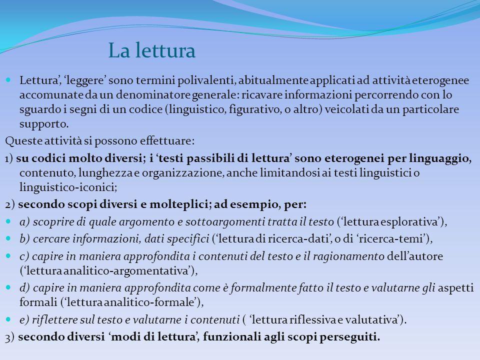 La lettura 3 dimensioni costitutive  la competenza pragmatico-testuale  la competenza lessicale  la competenza grammaticale.