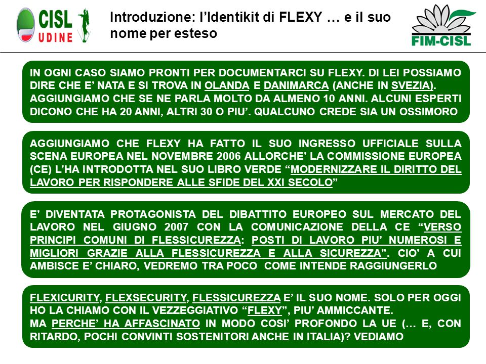 FLEXICURITY, FLEXSECURITY, FLESSICUREZZA E' IL SUO NOME.