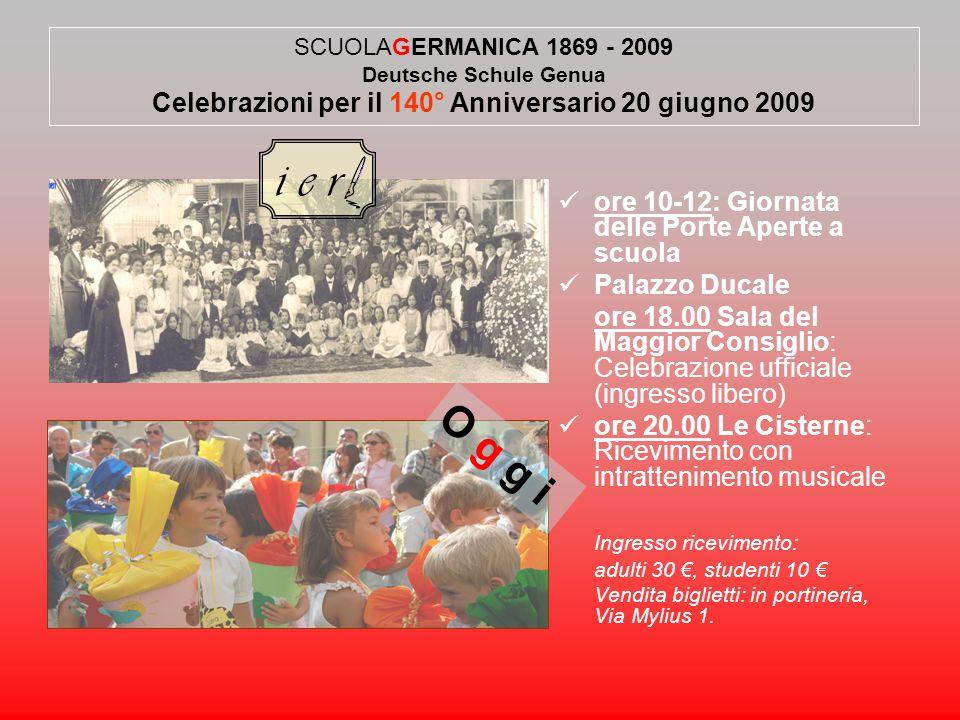  ore 10-12: Giornata delle Porte Aperte a scuola  Palazzo Ducale ore 18.00 Sala del Maggior Consiglio: Celebrazione ufficiale (ingresso libero)  or