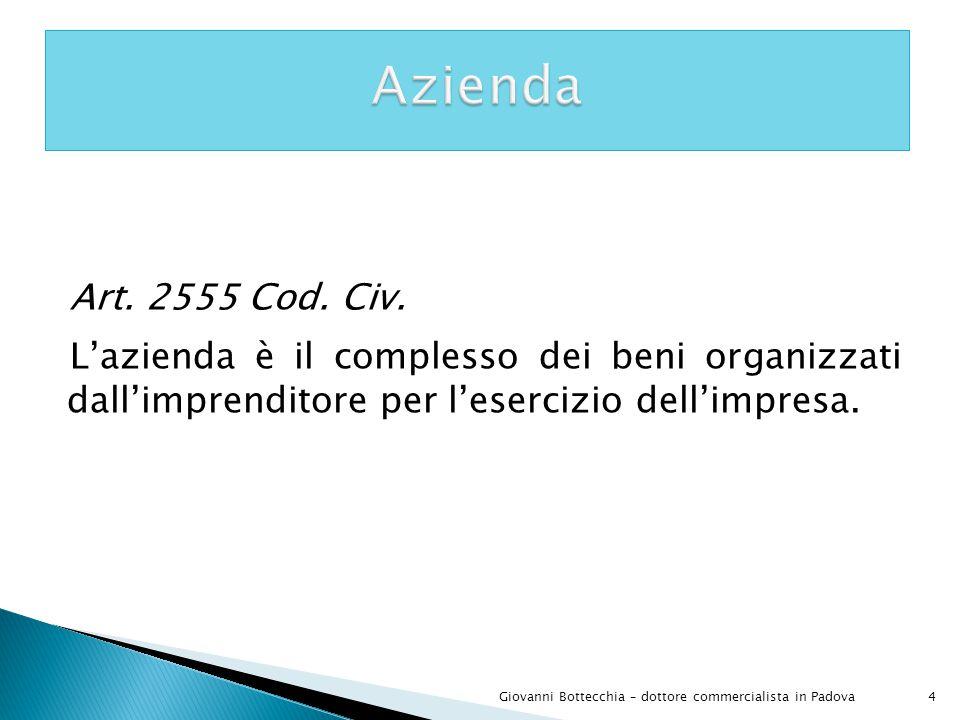 45Giovanni Bottecchia – dottore commercialista in Padova La Srl è obbligata alla tenuta della contabilità ordinaria.