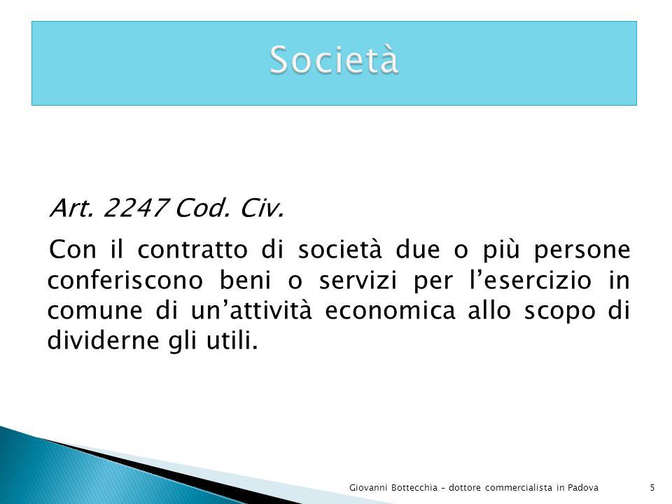 46Giovanni Bottecchia – dottore commercialista in Padova I soci delle Srl rispondono limitatamente per le obbligazioni sociali il fallimento della Srl non viene esteso anche ai soci