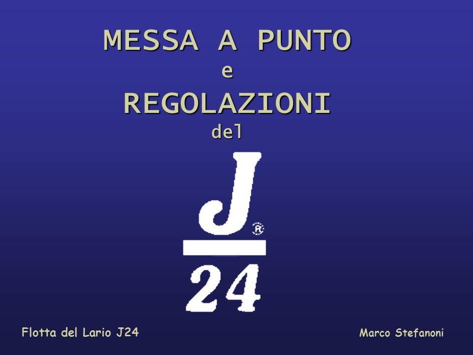 MESSA A PUNTO e REGOLAZIONI del …………………………………. Flotta del Lario J24 Marco Stefanoni
