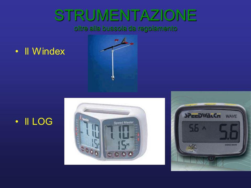 STRUMENTAZIONE oltre alla bussola da regolamento •Il Windex •Il LOG