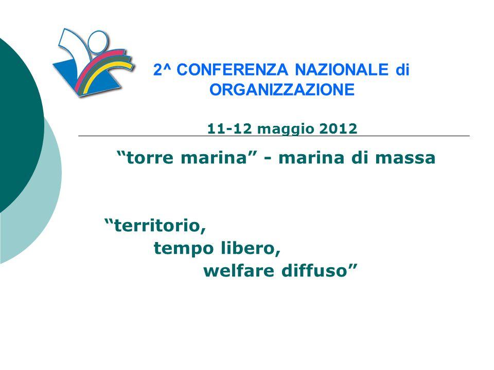 torre marina - marina di massa territorio, tempo libero, welfare diffuso 2^ CONFERENZA NAZIONALE di ORGANIZZAZIONE 11-12 maggio 2012