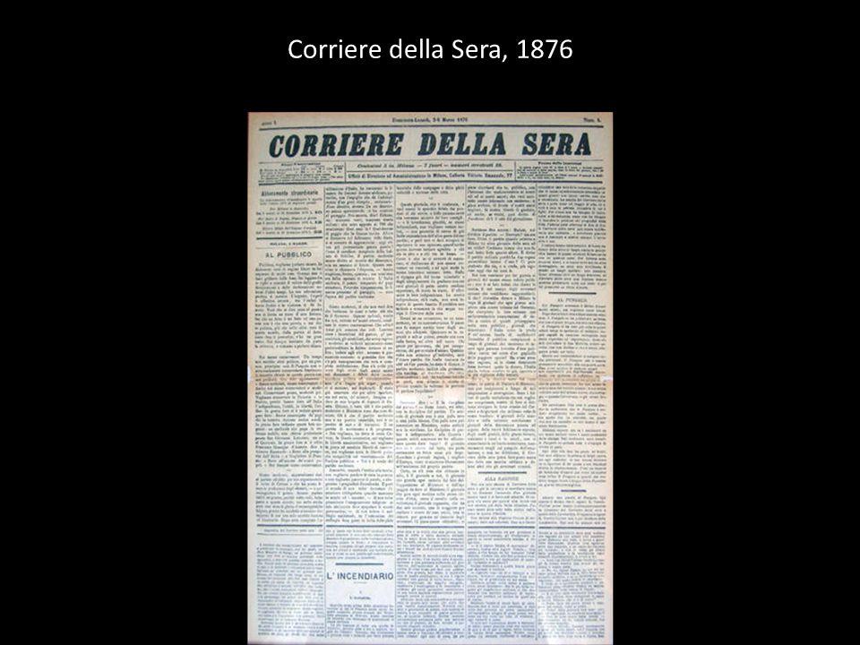 Manifesto pubblicitario del Corriere della sera
