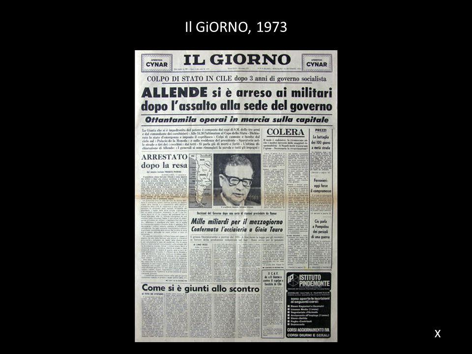 Il GiORNO, 1973 X