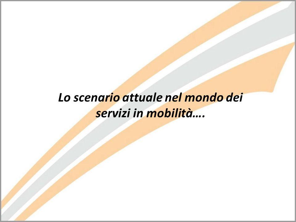 Lo scenario attuale nel mondo dei servizi in mobilità….