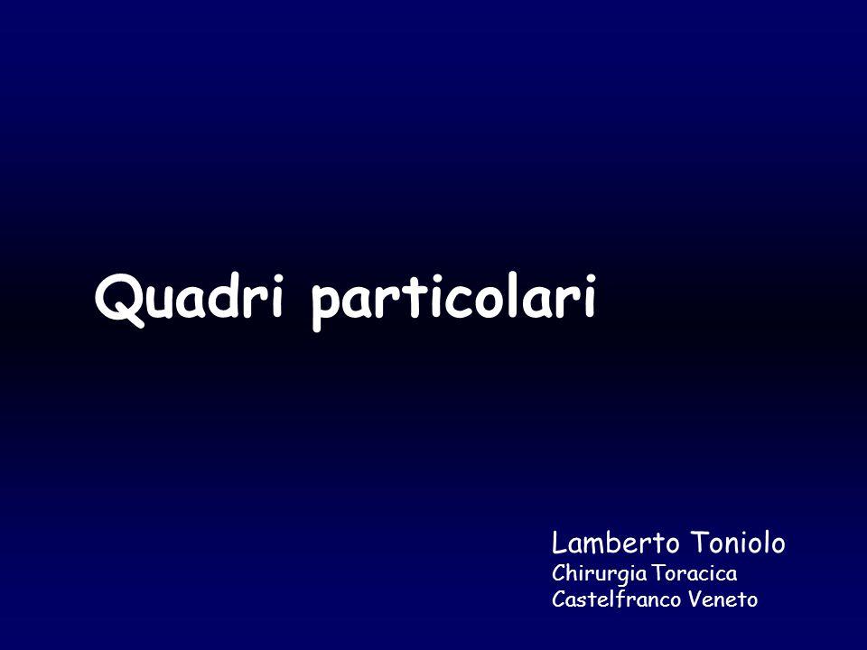 Quadri particolari Lamberto Toniolo Chirurgia Toracica Castelfranco Veneto