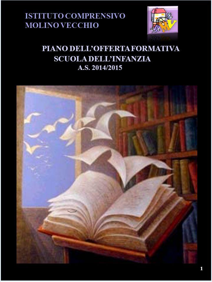 ISTITUTO COMPRENSIVO MOLINO VECCHIO PIANO DELL'OFFERTA FORMATIVA SCUOLA DELL'INFANZIA A.S. 2014/2015 1
