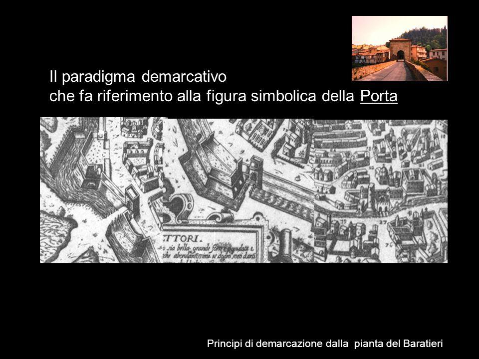 Principi di demarcazione dalla pianta del Baratieri Il paradigma demarcativo che fa riferimento alla figura simbolica della Porta