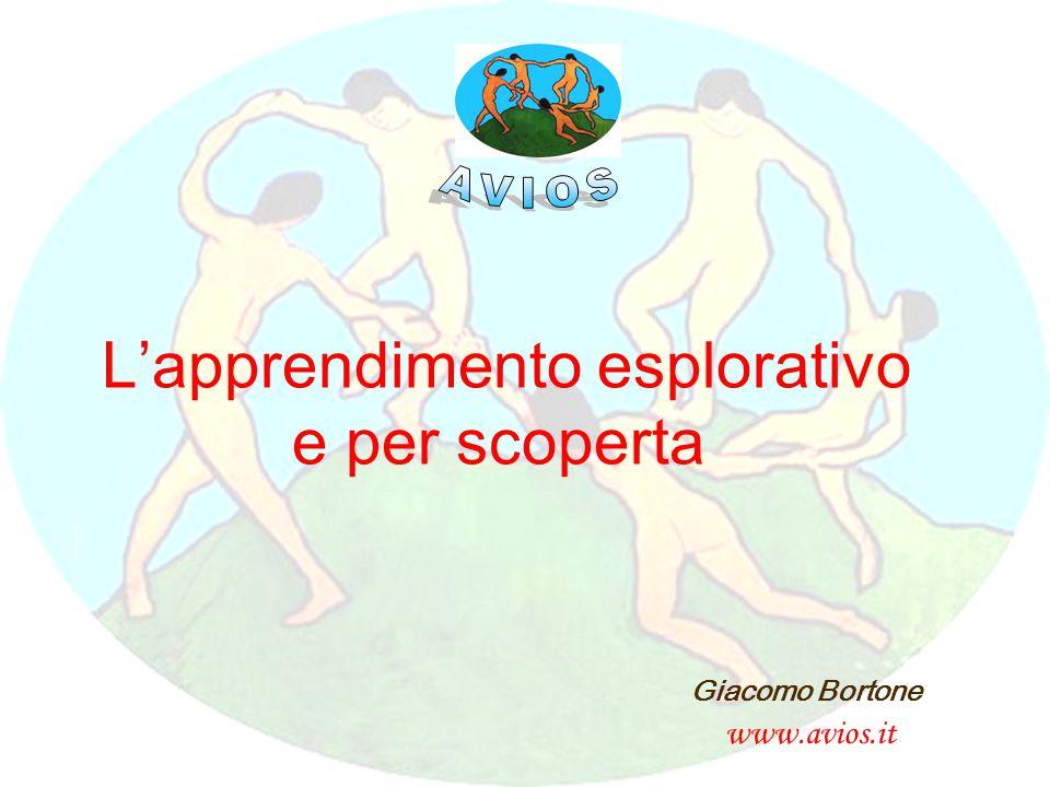 Giacomo Bortone www.avios.it L'apprendimento esplorativo e per scoperta