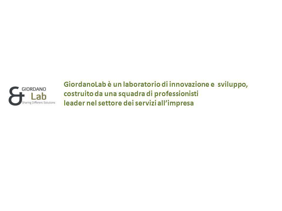GiordanoLab è un laboratorio di innovazione e sviluppo, costruito da una squadra di professionisti leader nel settore dei servizi all'impresa