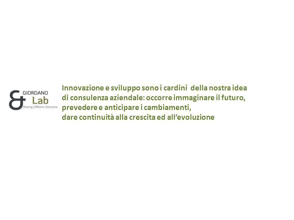 Innovazione e sviluppo sono i cardini della nostra idea di consulenza aziendale: occorre immaginare il futuro, prevedere e anticipare i cambiamenti, dare continuità alla crescita ed all'evoluzione