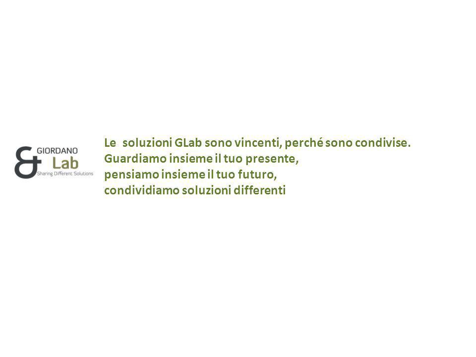 Le soluzioni GLab sono vincenti, perché sono condivise.