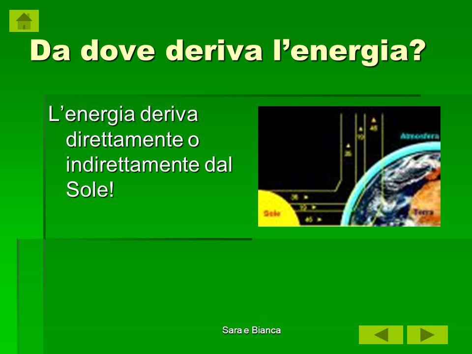 Sara e Bianca Energia idroelettrica L acqua viene sfruttata per produrre energia elettrica nelle centrali idroelettriche.
