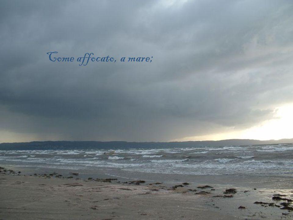 Come affocato, a mare;