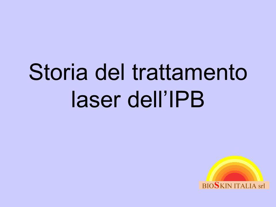 Storia del trattamento laser dell'IPB