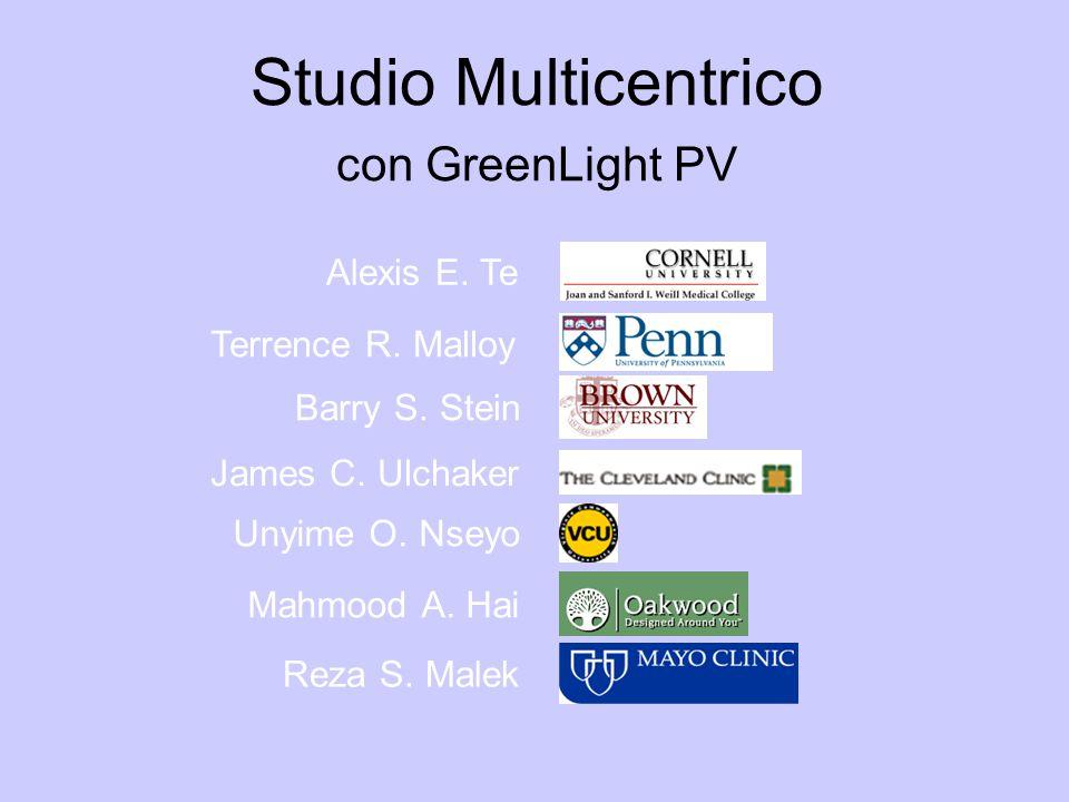 Alexis E. Te Terrence R. Malloy Barry S. Stein James C. Ulchaker Unyime O. Nseyo Mahmood A. Hai Reza S. Malek Studio Multicentrico con GreenLight PV