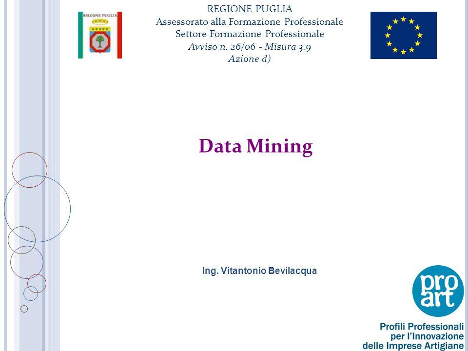Data Mining Processo informatico che impiega una o più tecniche di apprendimento artificiale per analizzare ed estrarre conoscenza da dati contenuti in archivi o basi di dati La conoscenza estratta da una sessione di data mining è data da un modello o da una generalizzazione dei dati Le tecniche di DM APPRENDIMENTO INDUTTIVO 2