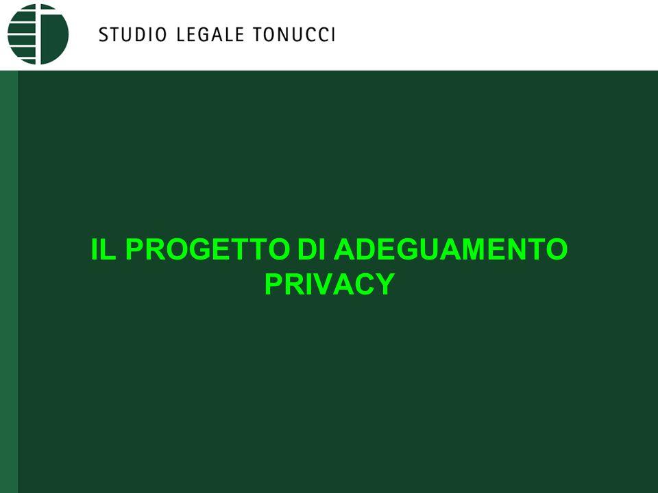 IL PROGETTO DI ADEGUAMENTO PRIVACY