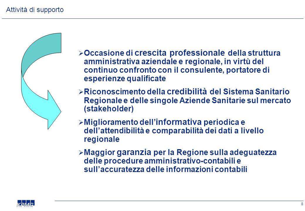8  Occasione di crescita professionale della struttura amministrativa aziendale e regionale, in virtù del continuo confronto con il consulente, porta