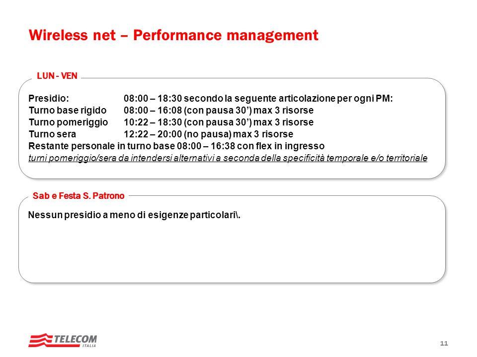Presidio: 08:00 – 18:30 secondo la seguente articolazione per ogni PM: Turno base rigido 08:00 – 16:08 (con pausa 30') max 3 risorse Turno pomeriggio1