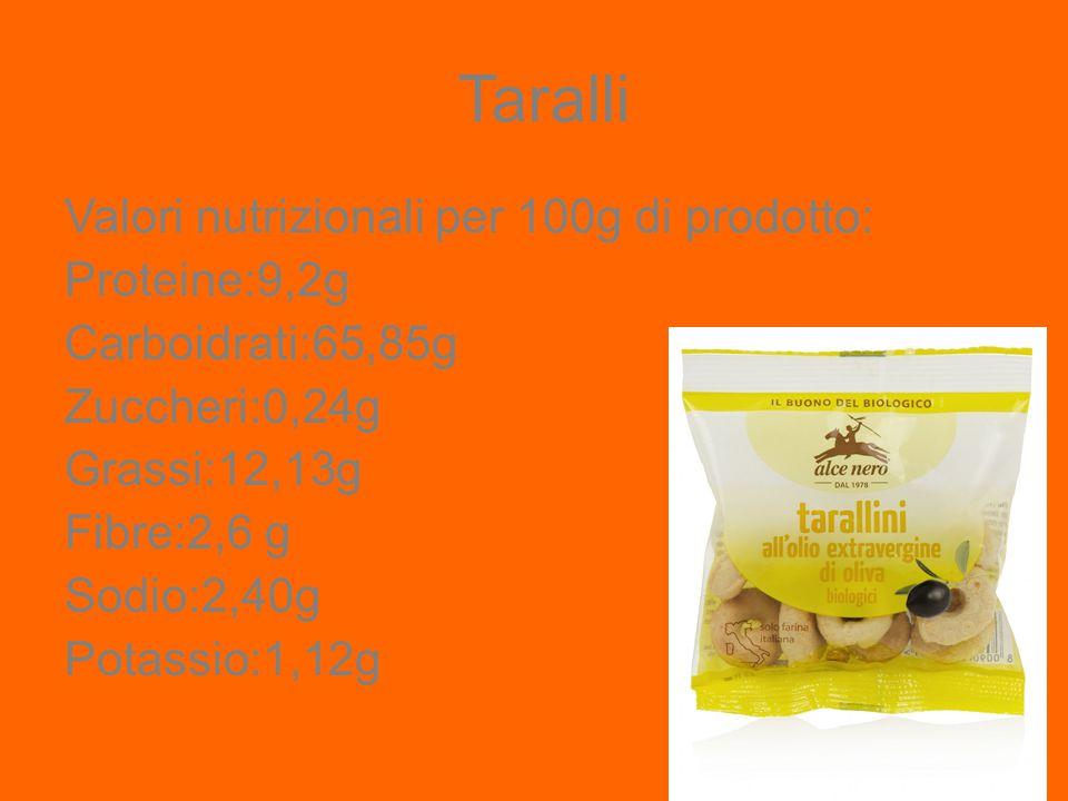NUTELLA Valore nutrizionale 544 kcal in 100 g Proteine 6,8 Carboidrati 56 g Grassi 31 g Ingredienti: Zucchero 56%,Olio vegetale 19%,Nocciole 13%, Cacao magro 7,4%,Latte scremato in polvere 6,6%,Siero di latte in polvere, Emulsionante (lecitina di soia),Vanillina